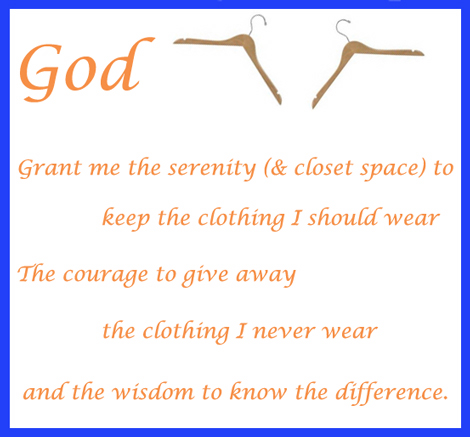 Serenity Prayer for cleaning closets