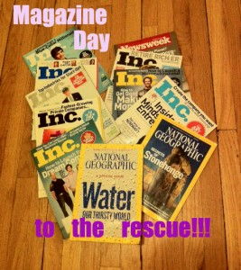 photo of magazines