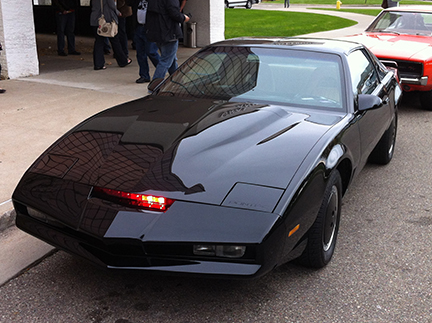 KITT did not drive itself as far as I could tell.