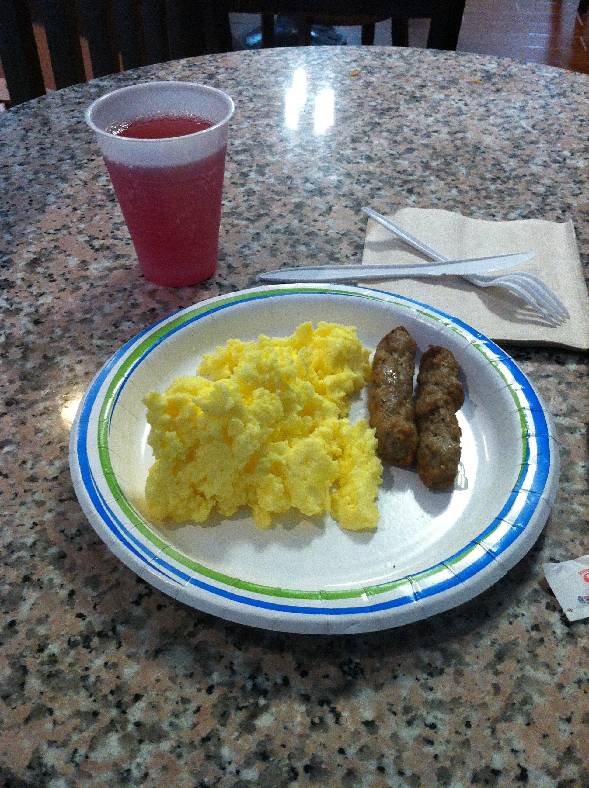 The C Rations breakfast at the Best Western.
