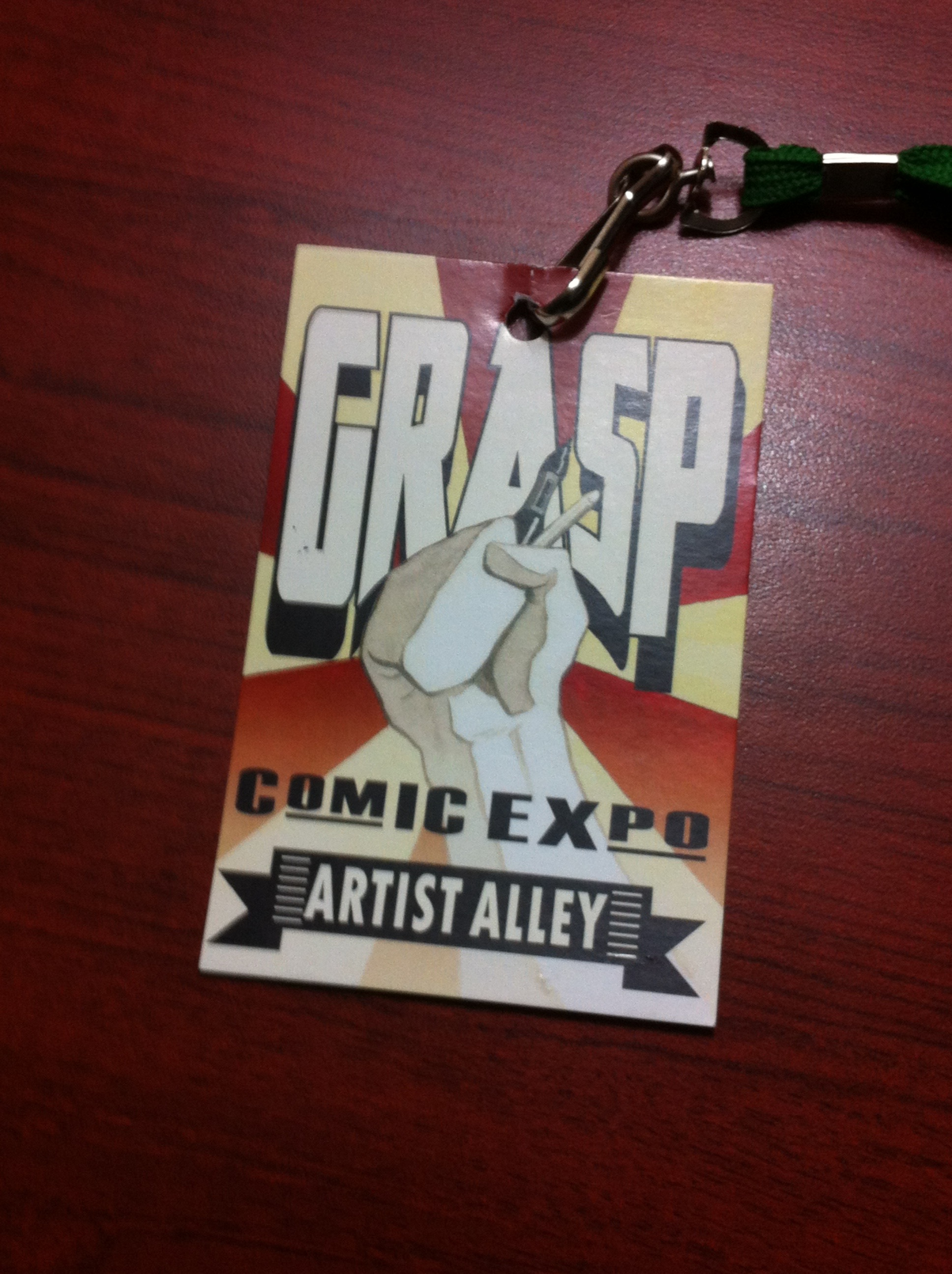 Would it kill you to print simple ID tags like these for your artists Wizard World?