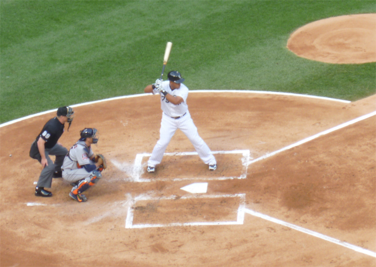 Jose Abreu, whose dinger would later seal the win.